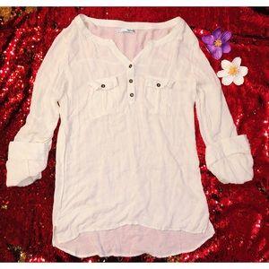 Maurice's sheer quarter length blouse